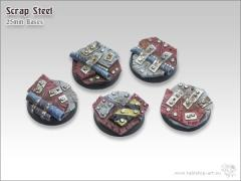25mm Round Base - Scrap Steel