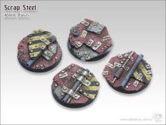 40mm Round Base - Scrap Steel