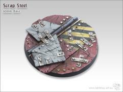 60mm Round Base - Scrap Steel