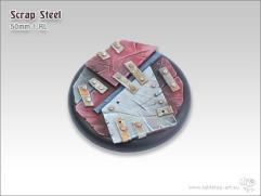 50mm Round Base w/Lip #1 - Scrap Steel
