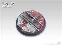 50mm Round Base w/Lip #2 - Scrap Steel