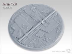120mm Round Base - Scrap Steel