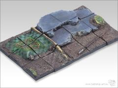 25mm Square Infantry Diorama #1 - Battleground