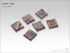 20mm Square Infantry Base - Lizard City