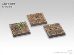 40mm Square Infantry Base - Lizard City
