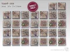 25mm Square Infantry Base - Lizard City