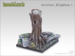 40mm Square Flightbase #1 - Woodland