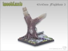 40mm Sqaure Flightbase #3 - Woodland