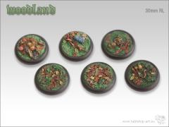 30mm Round Base w/Lip - Woodland