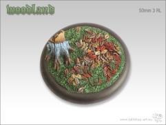 50mm Round Base w/Lip #3 - Woodland
