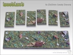 25x50mm Cavalry Diorama Base - Woodland