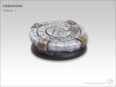 50mm Round Base w/Lip #1 - Runestone