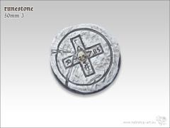 50mm Round Base w/Lip #3 - Runestone