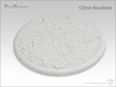 120mm Round Base w/Lip - Ruined Flagstone