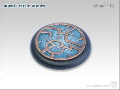 50mm Round Base w/Lip #1 - Mystic Circle Stones