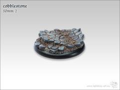 50mm Round Base #2 - Cobblestone