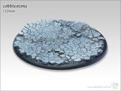120mm Round Base w/Lip - Cobblestone