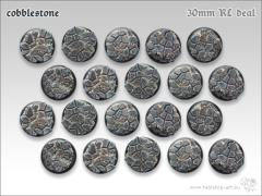 30mm Round Base - Cobblestone (20)