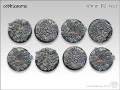 40mm Round Base w/Lip - Cobblestone (8)