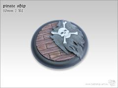 50mm Round Base w/Lip #2 - Pirate Ship