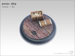 50mm Round Base w/Lip #3 - Pirate Ship