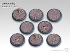 40mm Round Base w/Lip - Pirate Ship (8)