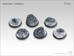 25mm Round Base - Meteoric Surface