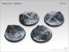 40mm Round Base - Meteoric Surface