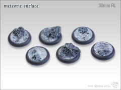 30mm Round Base w/Lip - Meteoric Surface