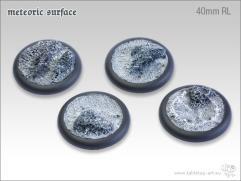 40mm Round Base w/Lip - Meteoric Surface