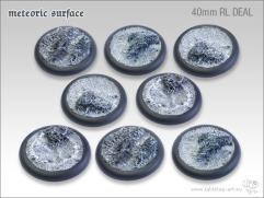 40mm Round Base w/Lip - Meteoric Surface (8)