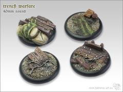 40mm Round Base w/Lip - Trench Warfare