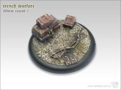 50mm Round Base w/Lip #1 - Trench Warfare
