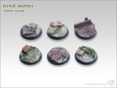 25mm Round Base - Trench Warfare