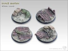 40mm Round Base - Trench Warfare