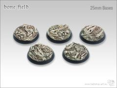 25mm Round Base - Bone Field