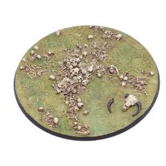 130mm Round Base - Bone Field #1