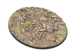 120mm Oval Base - Bone Field #2