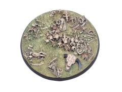 80mm Round Base - Bone Field #1