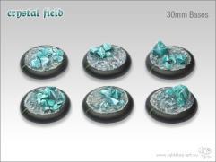 30mm Round Base w/Lip - Crystal Field