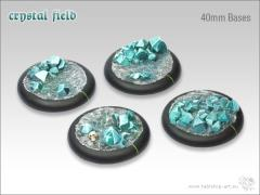 40mm Round Base w/Lip - Crystal Field