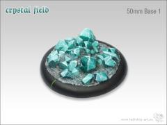 50mm Round Base w/Lip #1 - Crystal Field