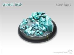 50mm Round Base w/Lip #2 - Crystal Field