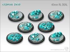 40mm Round Base w/Lip - Crystal Tech (8)