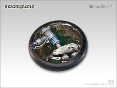 50mm Round Base w/Lip #1 - Swampland