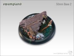 50mm Round Base w/Lip #2 - Swampland