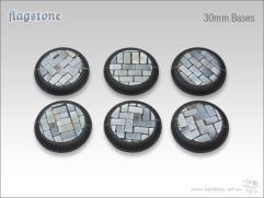 30mm Round Base w/Lip - Flagstone
