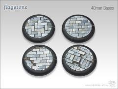 40mm Round Base w/Lip - Flagstone
