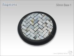 50mm Round Base w/Lip #1 - Flagstone