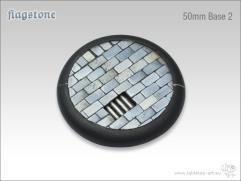50mm Round Base w/Lip #2 - Flagstone